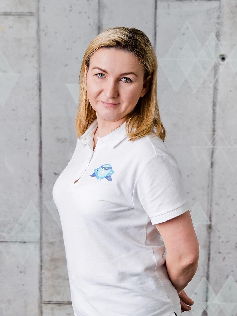 Agnieszka Łobodzińska - organizacja i logistyka w BlueBall Academy - ergonomia w pracy